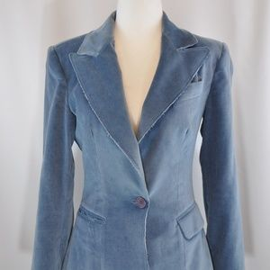 Juicy Couture Blue Velvet Blazer S